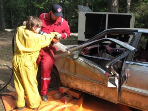 Cadet camp auto extrication